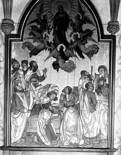 Peinture sur bois : l'Assomption de la Vierge