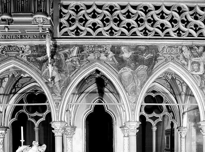 Jubé : saint Jean et saint Luc