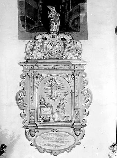 Epitaphe de l'abbé Matern
