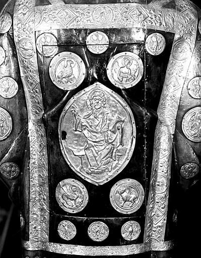 Buste de saint Cyriaque, dos : détail