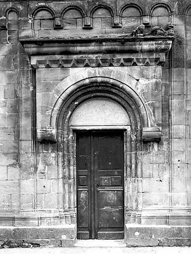 Portail de la façade nord : vue générale