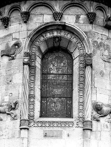 Extérieur, abside : fenêtre centrale