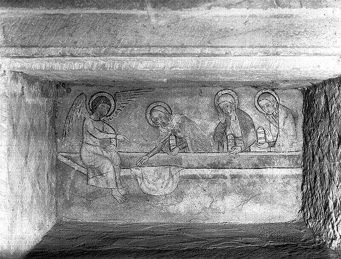Fresque : les trois Marie