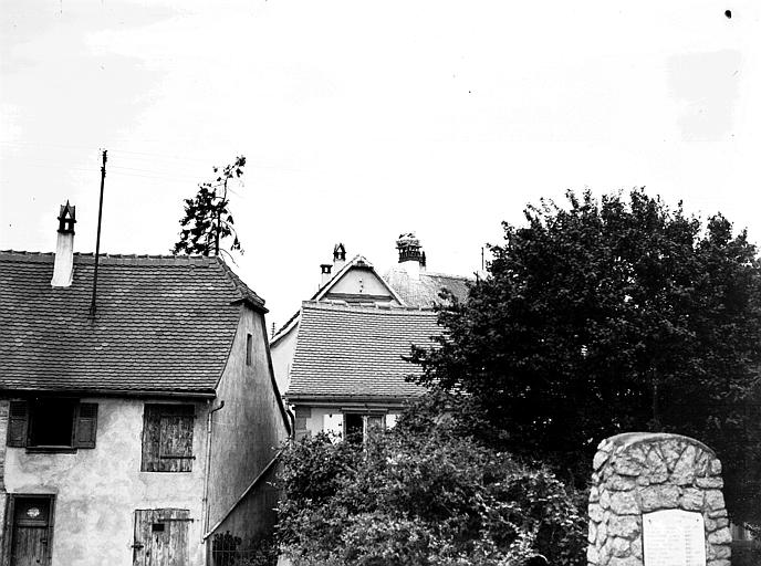 Vue de toits de maisons
