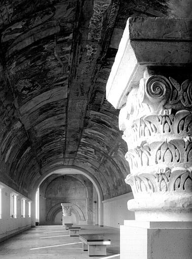 Relevés de fresques : ensemble de la nef