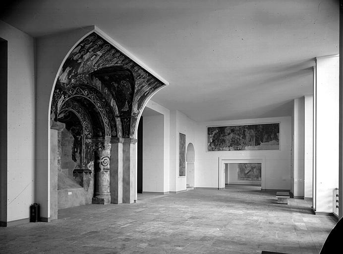 Relevés de fresques : arcades et ensemble du vestibule
