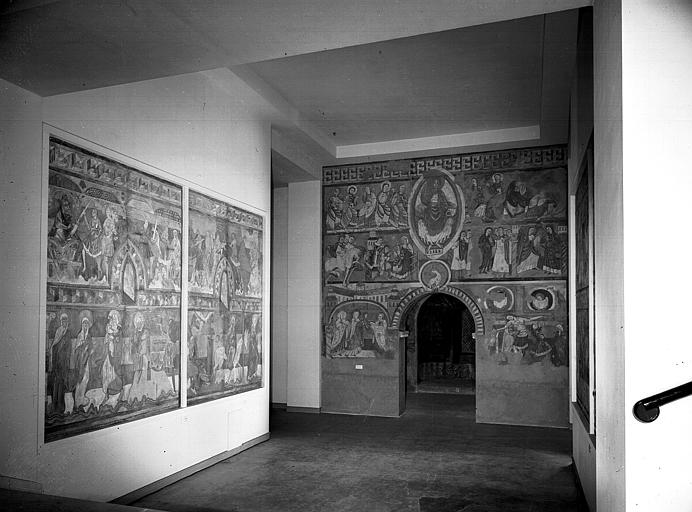 Relevés de fresques : nef, mur est pour Vic et choeur, mur est pour Brinay