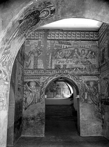 Relevés de fresques : choeur, mur ouest
