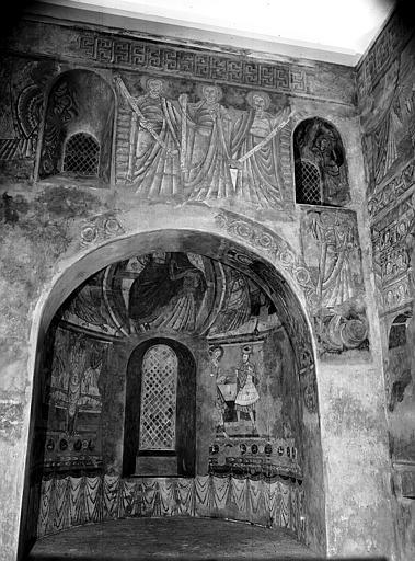 Relevés de fresques : choeur, mur est et cul-de-four