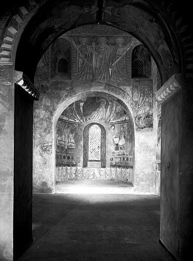 Relevés de fresques : ensemble du choeur et cul-de-four