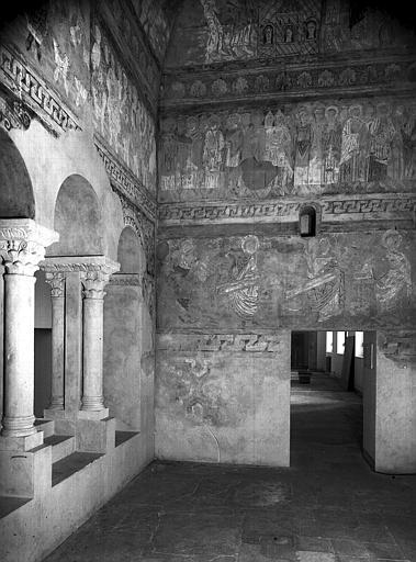 Relevés de fresques : chapelle haute, croisillon nord