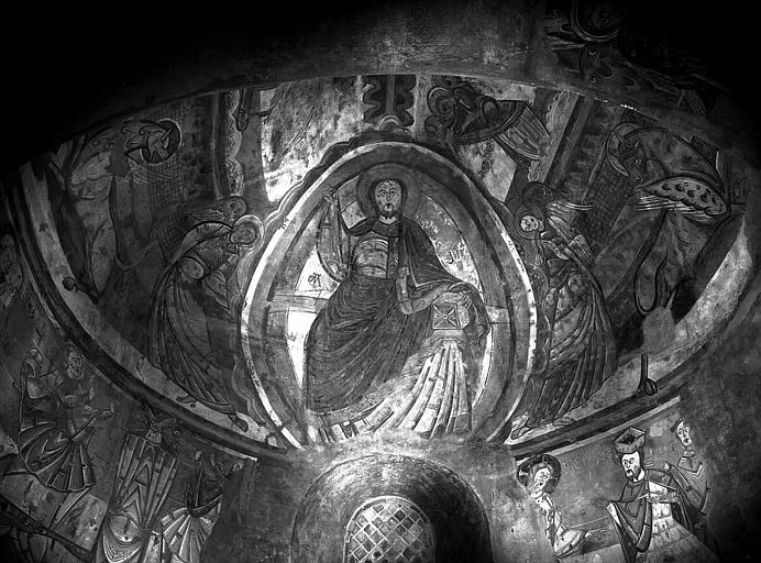 Relevés de fresques : détail du cul-de-four