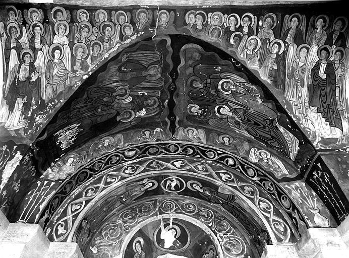 Relevés de fresques : arcade et amorce de voûte