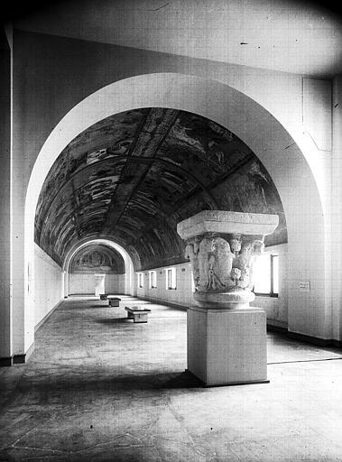 Relevés de fresques : ensemble de la nef, vers l'est