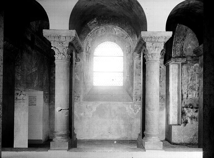Relevés de fresques : chapelle haute, bras nord du transept