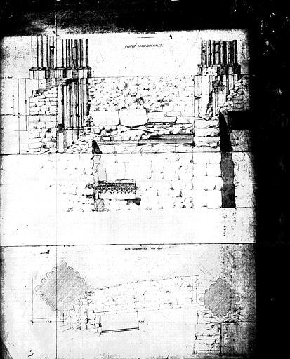 Situation des piliers, après les fouilles exécutées en juin 1859 pour la construction du caveau impérial