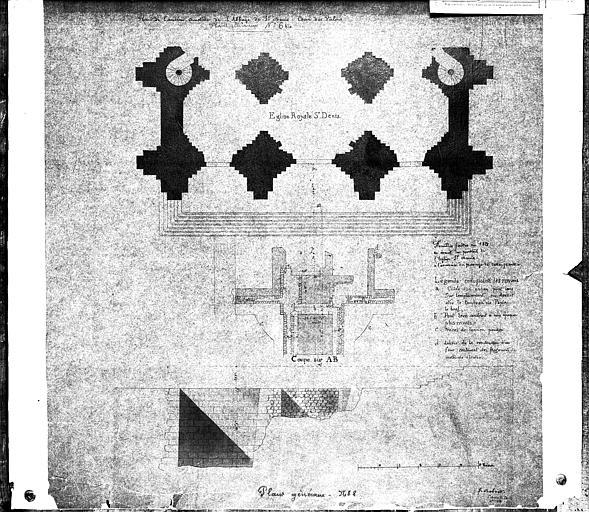 Fouilles faites en 1829 en avant du portail ouest