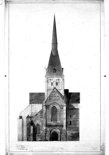 Aqurelle : élévation de la façade ouest