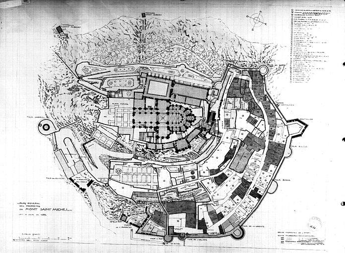 Plan général des propriètés du Mont-Saint-Michel mis à jour en 1932