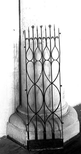 Panneau de grille en fer forgé