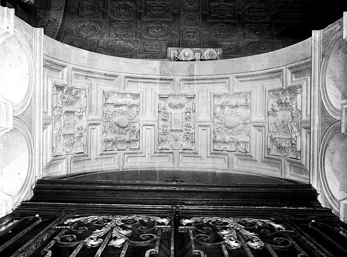 Chapelle d'Amoncourt, arc d'entrée : vue verticale