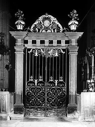 Grille du choeur, côté du transept