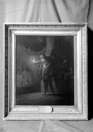Peinture : scène de tréteaux