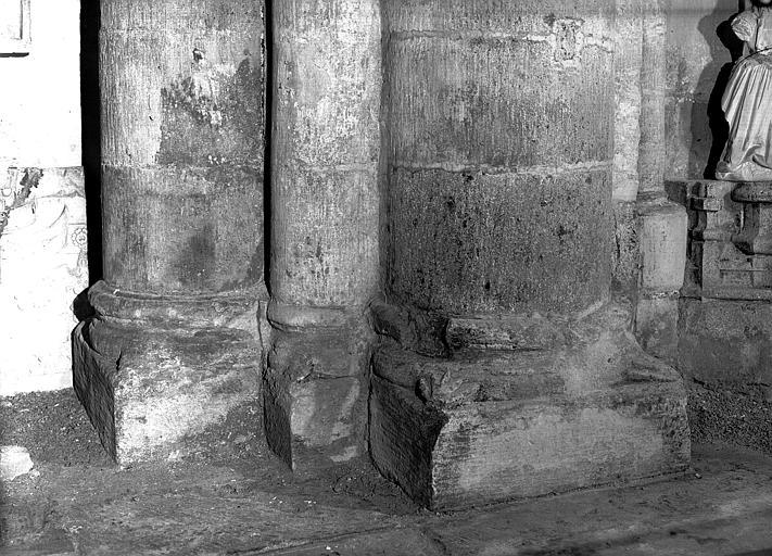 Première travée : base de pilier