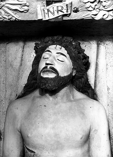 Détail du Sépulcre : la tête du Christ