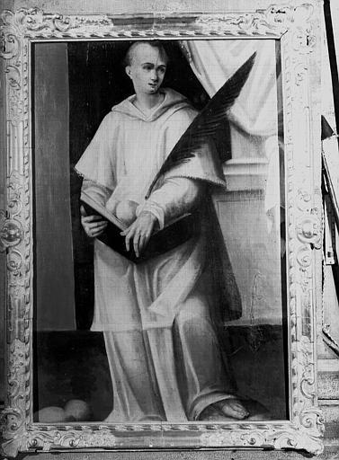 Panneau peint, saint Etienne, dans le presbytère