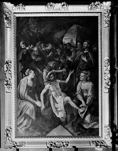 Peinture sur toile, Résurrection de Lazare, retable du croisillon nord