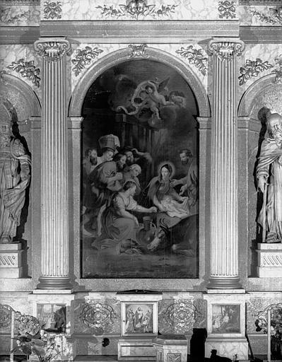 Peinture sur toile du retable, Sainte Famille, chapelle du croisillon nord