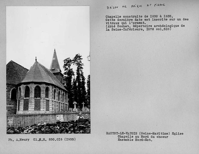 Chapelle au nord du choeur, ensemble extérieur