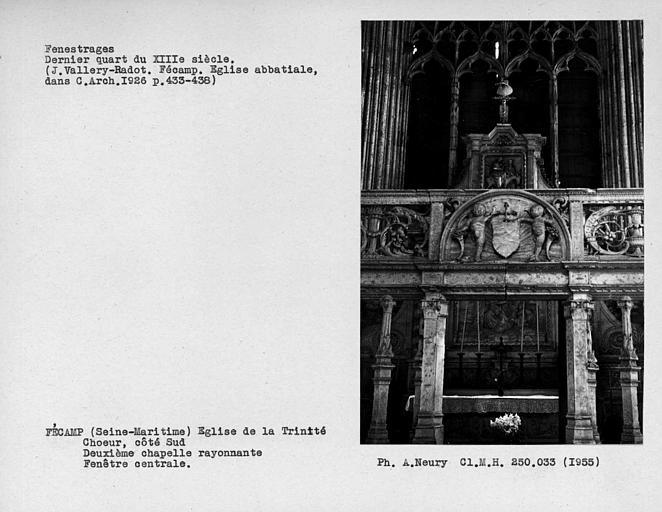 Fenestrage du choeur, côté sud, deuxième chapelle rayonnante