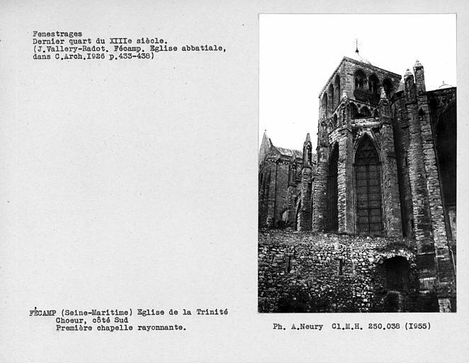 Fenestrages du choeur, côté sud, première chapelle rayonnante