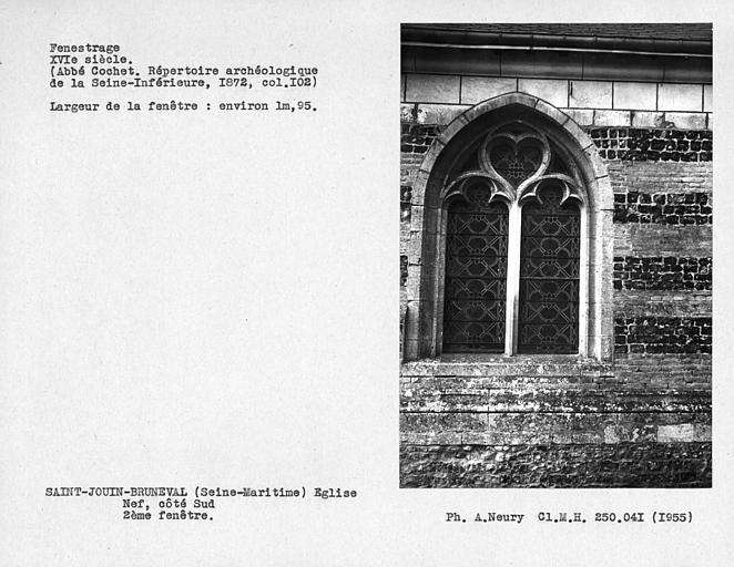 Fenestrage de la nef, deuxième fenêtre côté sud