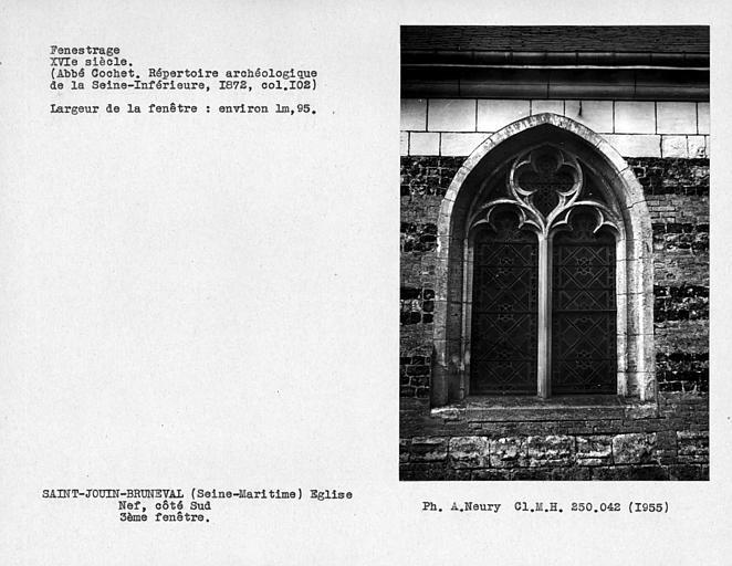 Fenestrage de la nef, troisième fenêtre côté sud