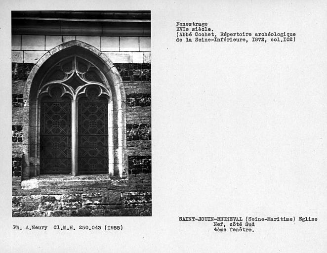 Fenstrage de la nef, quatrième fenêtre côté sud