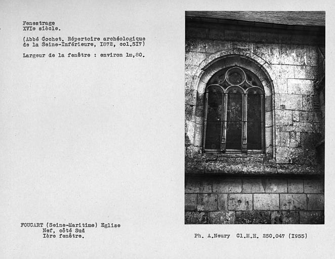 Fenestrage de la nef, côté sud