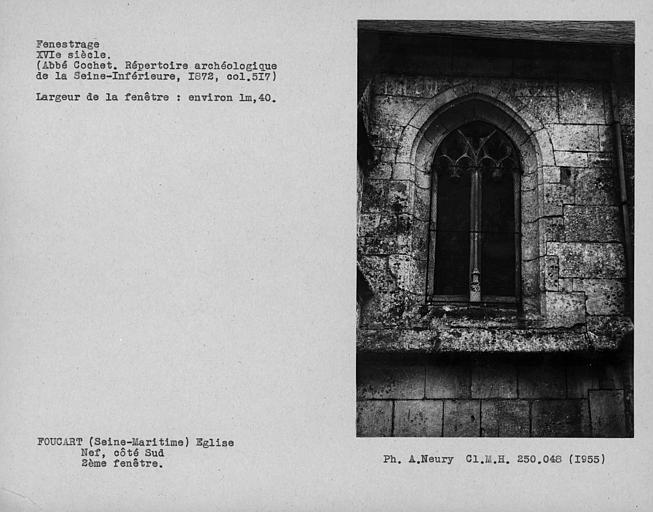 Fenestrage de la nef, côté sud, deuxième fenêtre