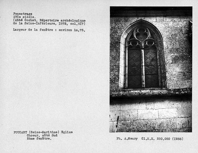 Fenestrage du choeur, côté sud, deuxième fenêtre