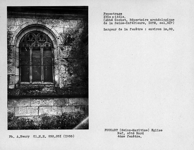 Fenestrage de la nef, côté nord, quatrième fenêtre