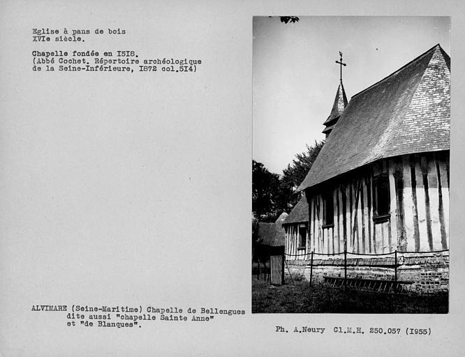 Choeur de l'église en pan-de-bois