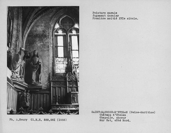 Peinture à gauche de l'autel de la chapelle : Jugement dernier