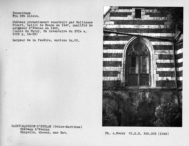 Fenestrage du choeur de la chapelle, mur est