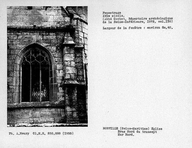 Fenestrage du bras nord du transept, mur nord