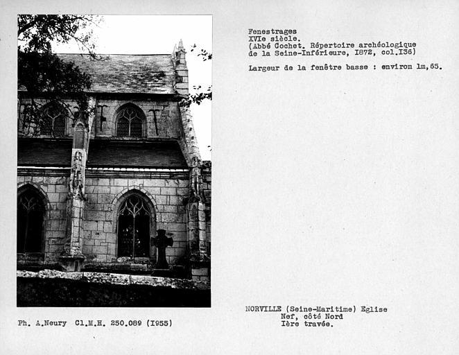 Fenestrages de la nef, côté nord, première travée
