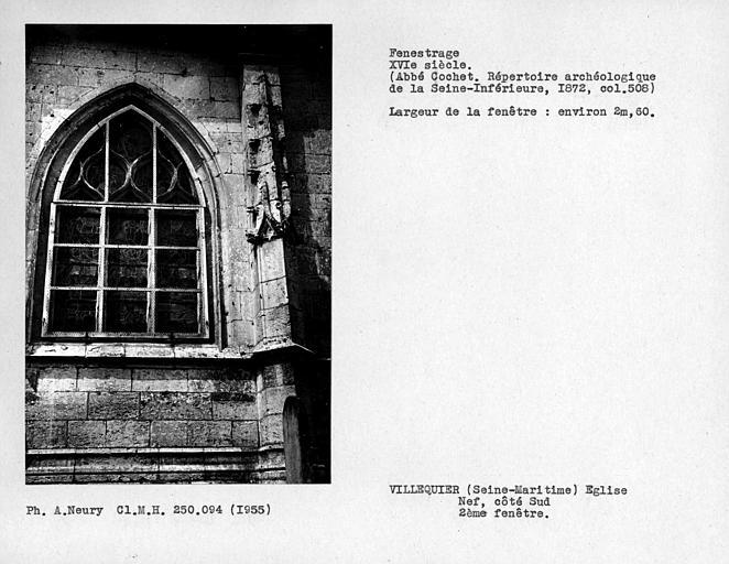 Fenestrage sud de la nef, deuxième fenêtre