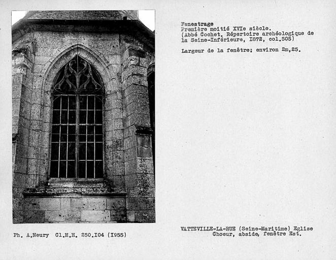 Fenestrage du choeur, fenêtre est de l'abside