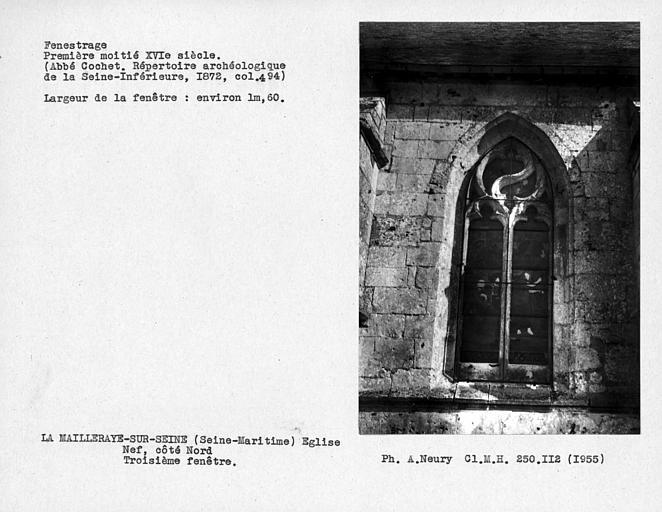 Fenestrage de la nef, troisième fenêtre côté nord